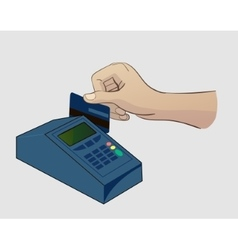 Paying Credit Card vector image vector image