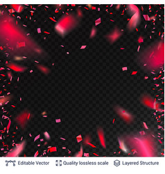 pink red festive confetti blurred in motion vector image