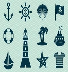 Pirates icons vector