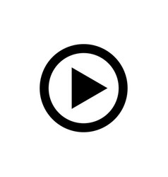 play button for video or music icon vector image