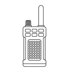 Portable handheld radio icon outline style vector