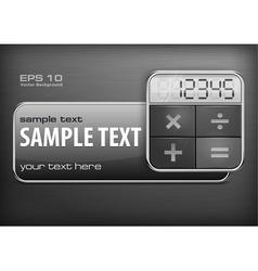 Promotion banner calculator vector