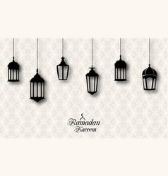 Ramadan kareem celebration background vector