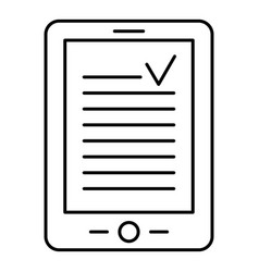 reading device icon outline style vector image