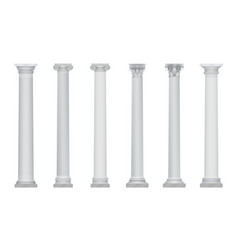 Realistic ancient greek rome column vector