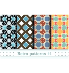 Retro Seamless Wallpapers vector image