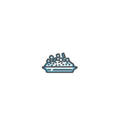 risotto icon design gastronomy icon vector image