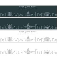 sacramento single line skyline banner vector image