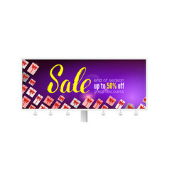 sale billboard with handwritten lettering great vector image