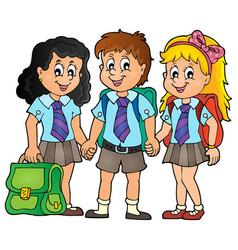 School pupils theme image 3 vector