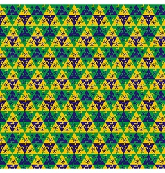 Seamless football pattern vector image