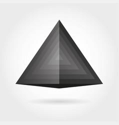 smooth color gradient triangle icon logo vector image