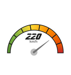 speedometer icon speed indicator vector image