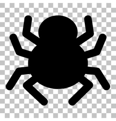Spider sign Flat style black icon on vector image