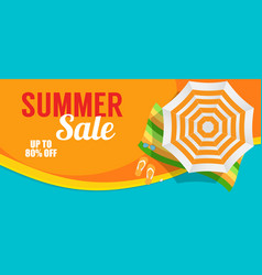 summer sale banner template for your business vector image vector image