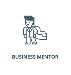Super herobusinessmanbusiness mentor line vector