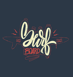 surfing concept for shirt print vector image