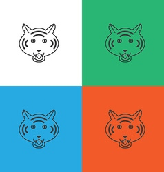 Tiger logo or icon in vector image