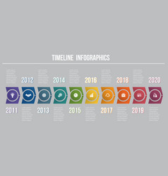 Timeline arrows 10 positions template for vector