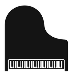 Top view classic grand piano icon simple style vector