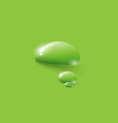 Transparent drops water green dew drops vector