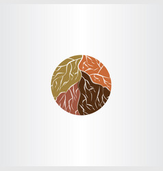 tree root logo icon symbol vector image