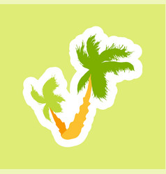 tropical palms island vector image
