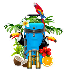 tropical travel concept vector image