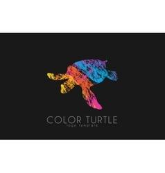 turtle logo design color creative logo vector image