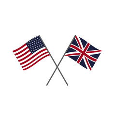 usa and uk flags vector image