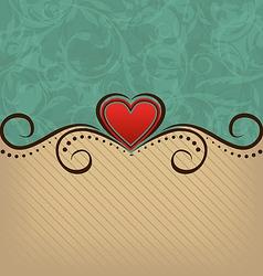 Valentines Day retro elegance background vector