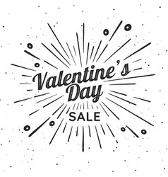 valentines day vintage sign vector image