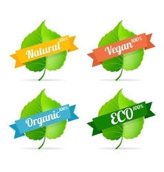 vegan shop labels set vector image