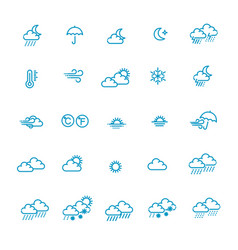 weather forecast - outline web icon set vector image