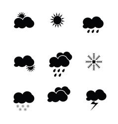 weather icon black vector image