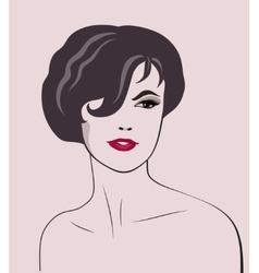 woman elegant portrait vector image