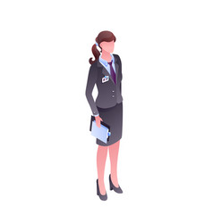 Woman in office clothes faceless vector