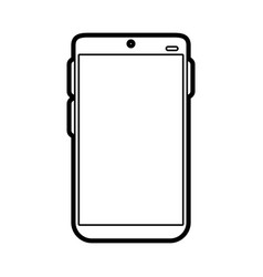 electronic cell phone on vector image vector image