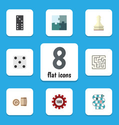 flat icon games set of multiplayer bones game vector image