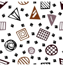 Pattern with geometric shapes eps 10 vector image