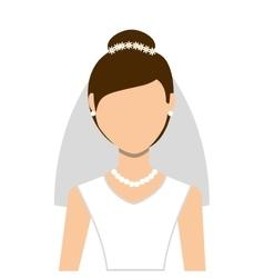 wife wedding dress isolated icon design vector image vector image