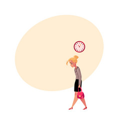 young tired businesswoman going home after work vector image