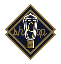 Color vintage lighting shop emblem vector image vector image