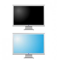 lcd monitors vector image