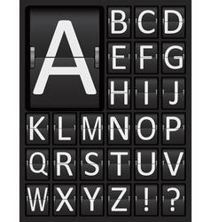 Scoreboard Mechanical Panel Letters Alphabet vector image
