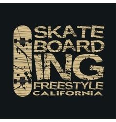 skateboarding t-shirt typography vector image vector image