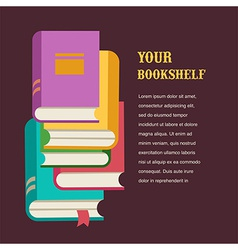 stack of books concept design vector image