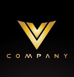 Alphabet letter V logo icon design vector image vector image