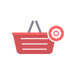 basket buy settings shop shopping icon vector image