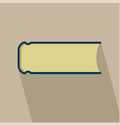 book flat design with long shadow vector image